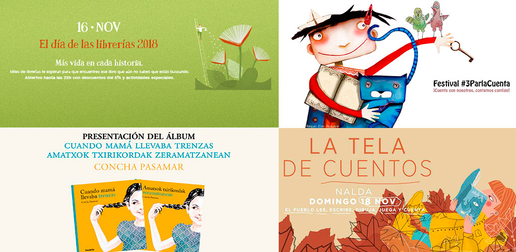 Día de las librerías, presentaciones, La tela de cuentos