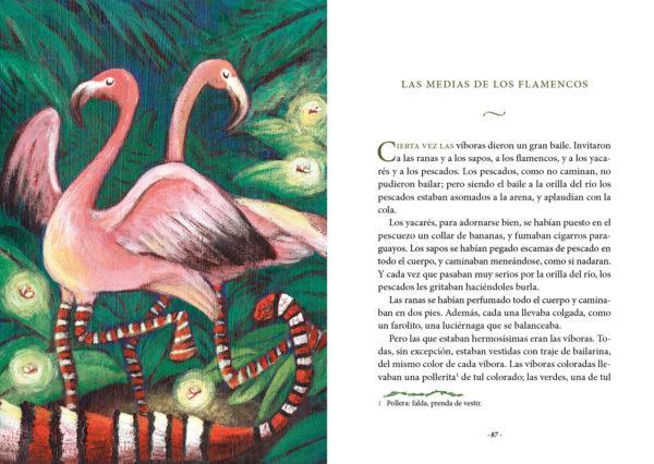 Cuentos de la selva Medias de los flamencos